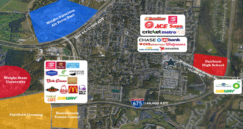 FORMER KMART - Fairborn, OH   MATTHEWS on target store map, strategic relocation map, nuclear map,